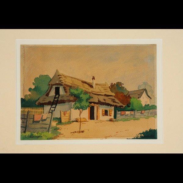 """21: S. VINIEGRA   """"Mi Casa""""   Watercolor"""