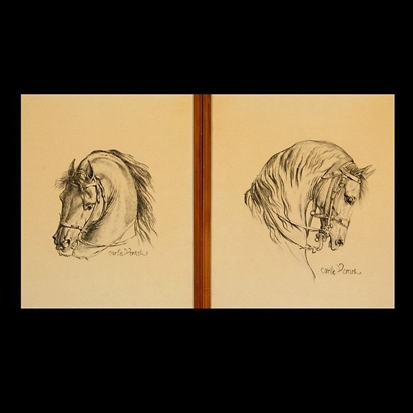 "43: CARLE VERNET  Two works: ""Horses""  Lithographs"