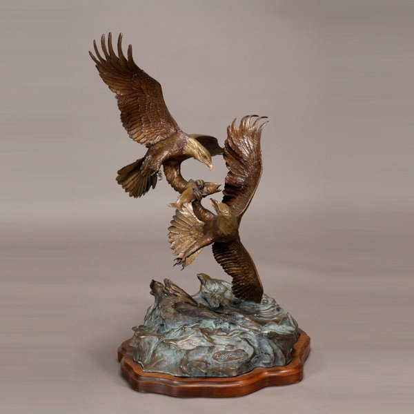 "49: Clark Bronson ""Eagle's Conquest"" Bronze"