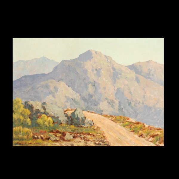"89: S.P. CANTRELL ""Desert Mountains"" Oil on board"