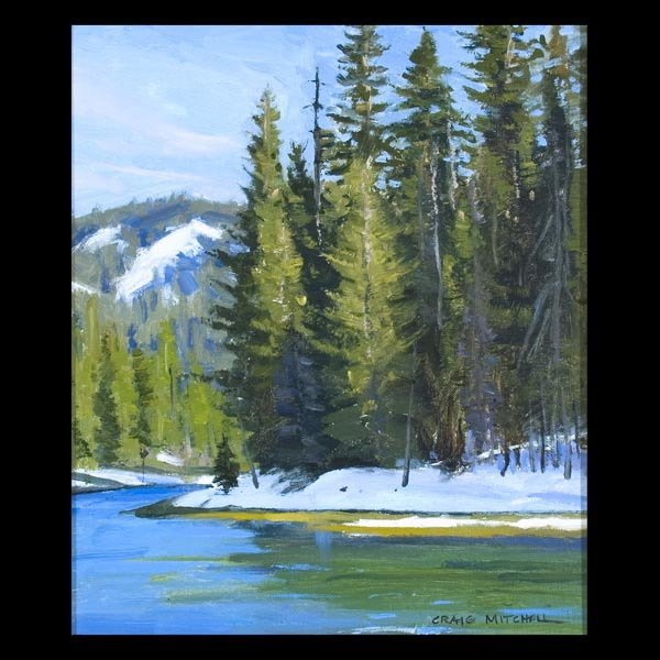 93: CRAIG MITCHELL Truckee River Landscape, Signed