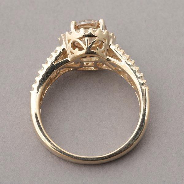 278: DIAMOND, 14K YELLOW GOLD RING. - 3