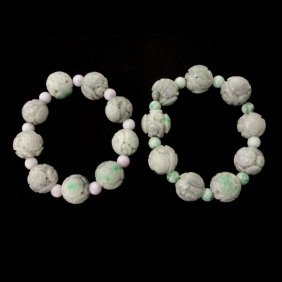 COLLECTION OF JADE BEADS.