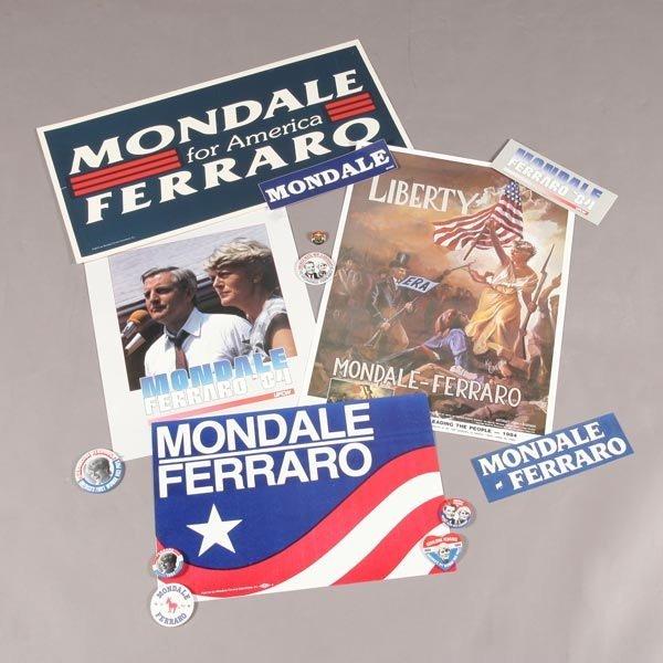 414: Mondale-Ferraro 1984 Presidential Campaign Materia