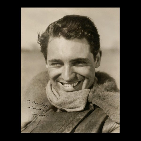417: Early Black and White Photograph of Cary Grant,