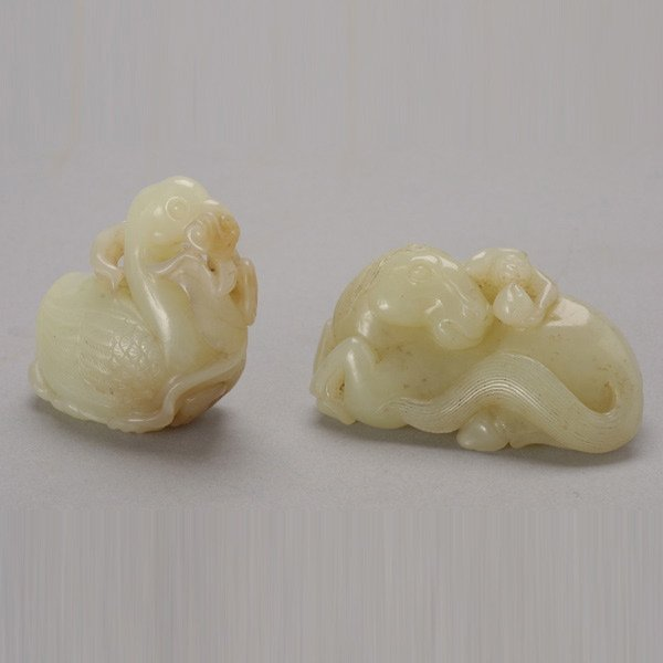 426: Two Carved Jade Carvings