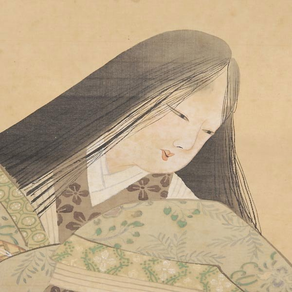 532: A Japanese Hanging Scroll of a Beauty - 3