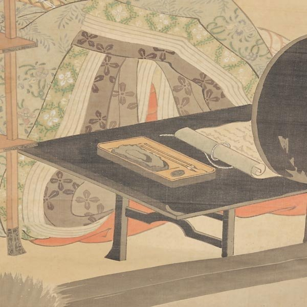 532: A Japanese Hanging Scroll of a Beauty - 4