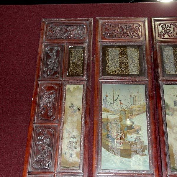 559: A Six-Panel Hardwood Folding Screen - 2