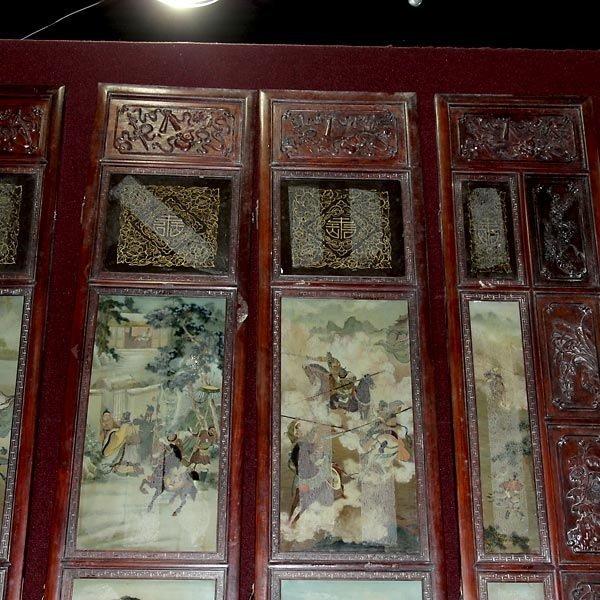 559: A Six-Panel Hardwood Folding Screen - 3