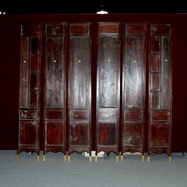 559: A Six-Panel Hardwood Folding Screen - 5