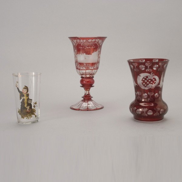 644: A Vase, a Goblet and a Glass Cup