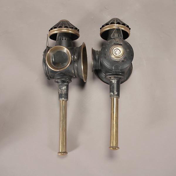 762: Three Vintage Wall Mount Oil Lanterns - 2