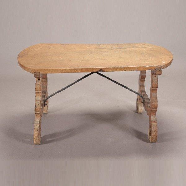 1003: Spanish Baroque Style Trestle Wine Table