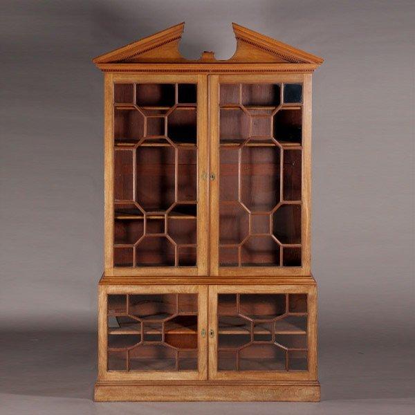 1010: George III Mahogany Library Bookcase astragal