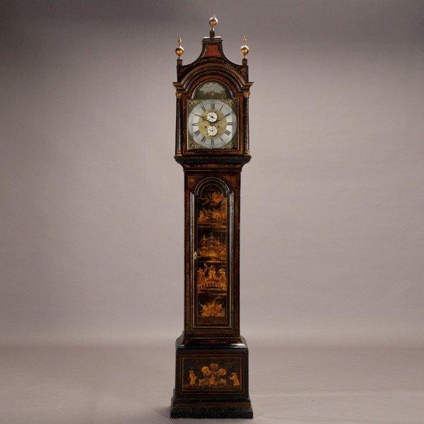 1011: George III Japanned Tall Case Clock