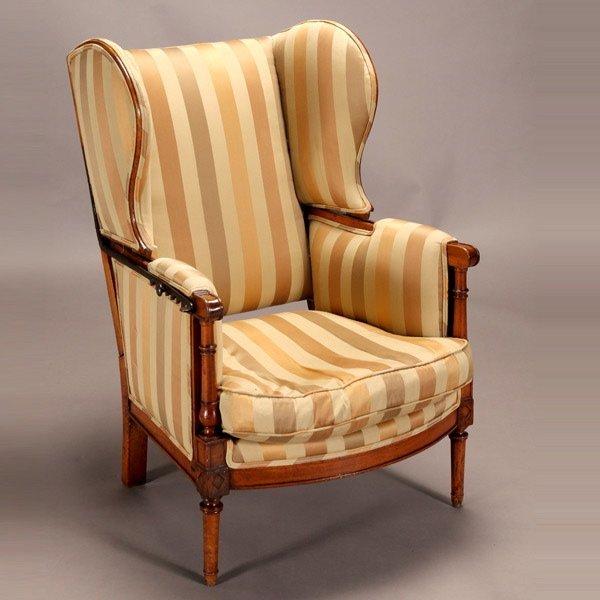 1014: Regency Adjustable Reclining Wing Back Chair