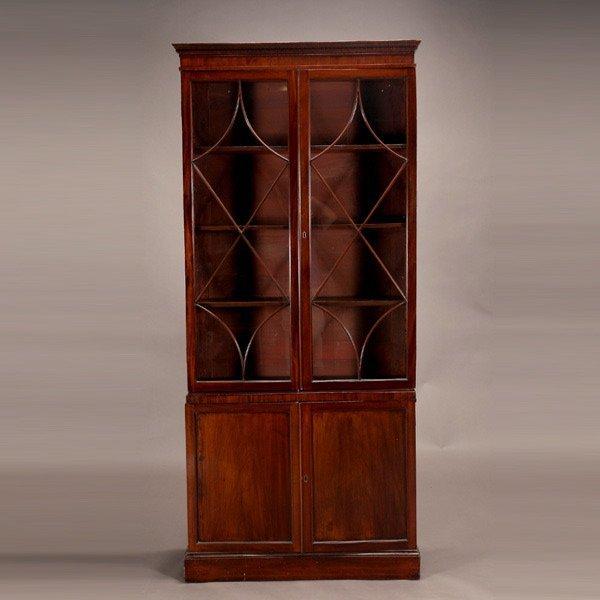 1015: Edwardian Mahogany Bookcase