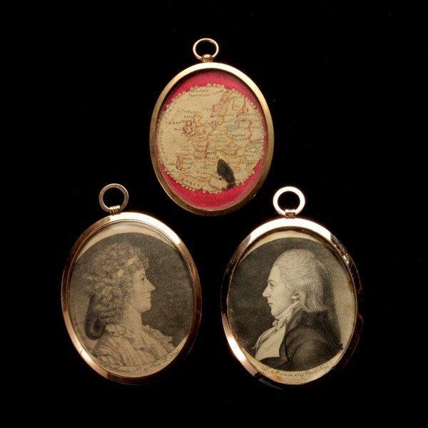 1023: Pair Saint Memin Engraved Miniatures