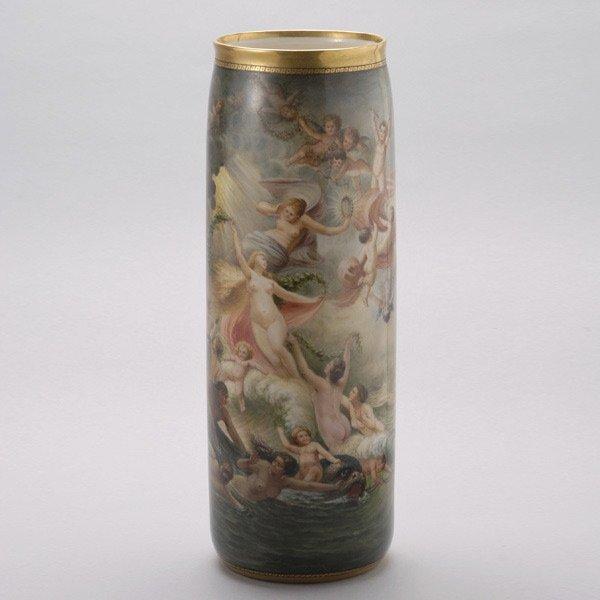 1074: American Belleek Porcelain Vase: Birth of Venus