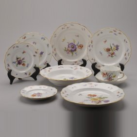 Meissen Porcelain Partial Dinner Service: (97)