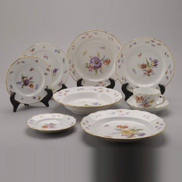 1076: Meissen Porcelain Partial Dinner Service: (97)