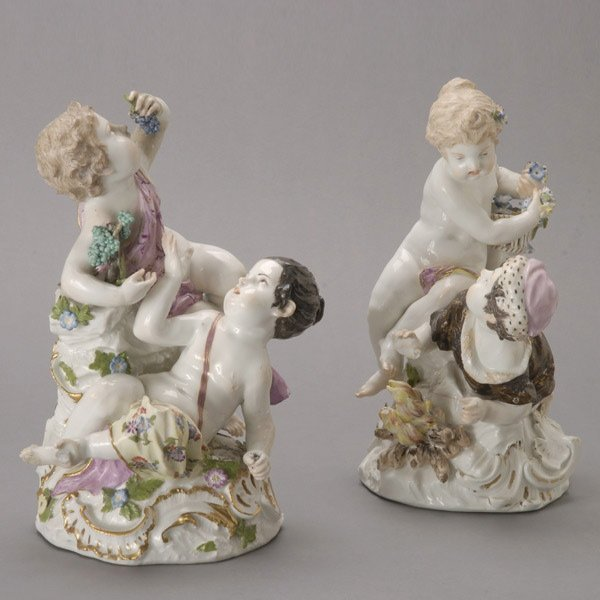 1081: Two Meissen Figural Groups Emblematic of Seasons