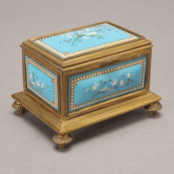 1085: Napoleon III Jeweled and Enameled Jewelry Casket