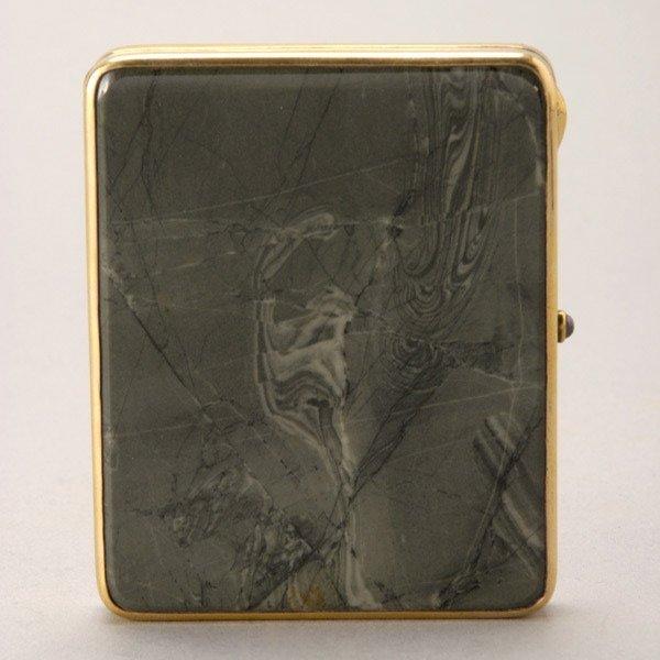 1089: Russian Agate 875 Standard Silver Gilt Card Case