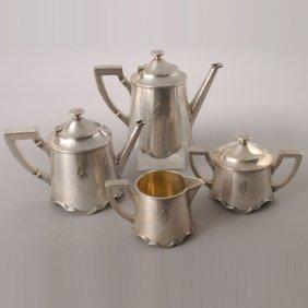 Shreve & Co Hammered Sterling 4 Pc Tea Set