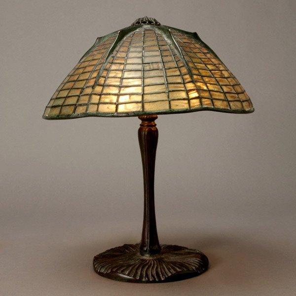 1123: Tiffany Studios Spider Lamp, 1899-1928