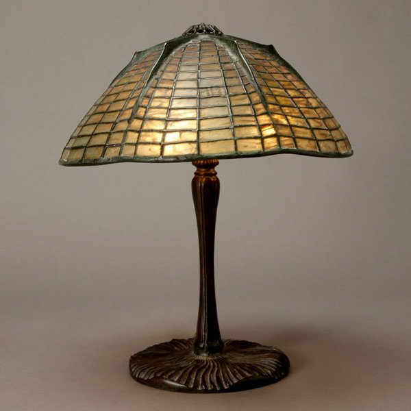 1123: Tiffany Studios Spider Lamp, 1899-1928