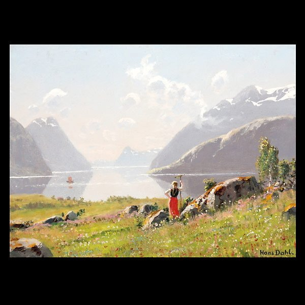 """2006: HANS DAHL  """"A Young Beauty at the Fjord"""""""