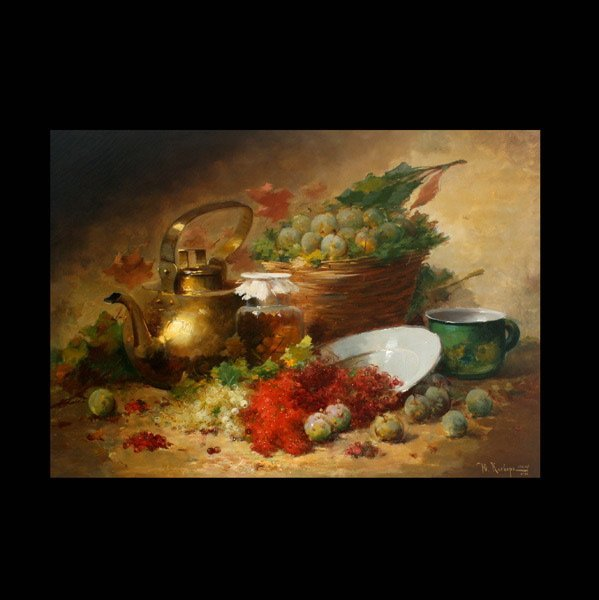 2010: IULII KLEVER II  Still Life with Kettle and Grape