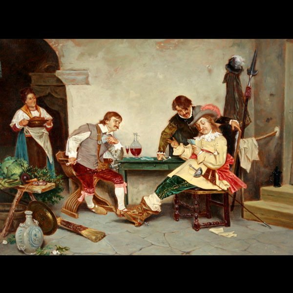 2011: TITO CONTI   The Card Players   Oil on panel
