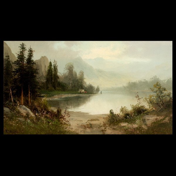 """2080: FREDERICK SCHAFER """"Morning on Feather River"""""""