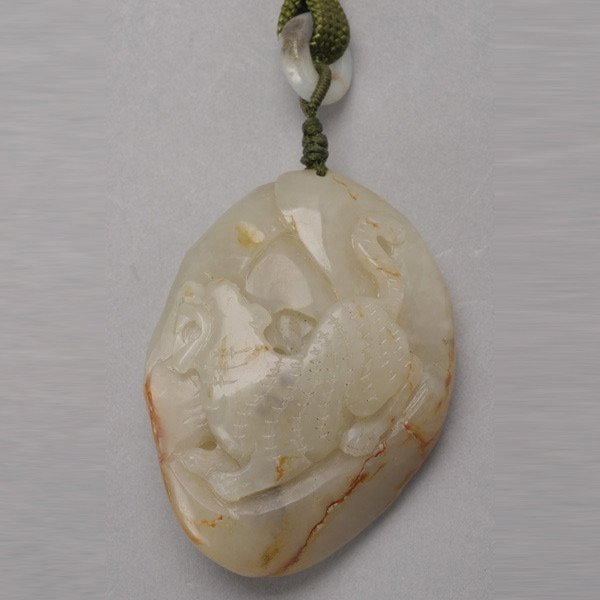 8007: A Carved Jade Pebble