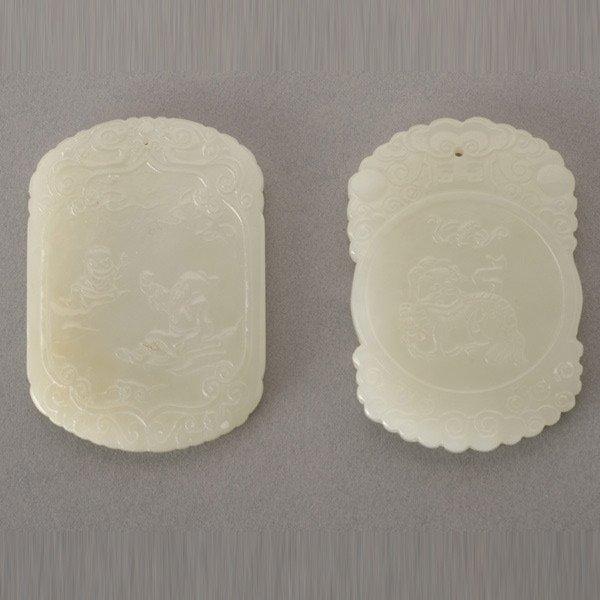 8012: Two Jade Pendants