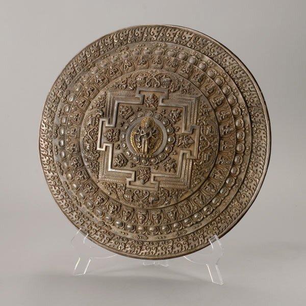8104: A Silver Nepalese Pancharaksha Kalachakra Mandala