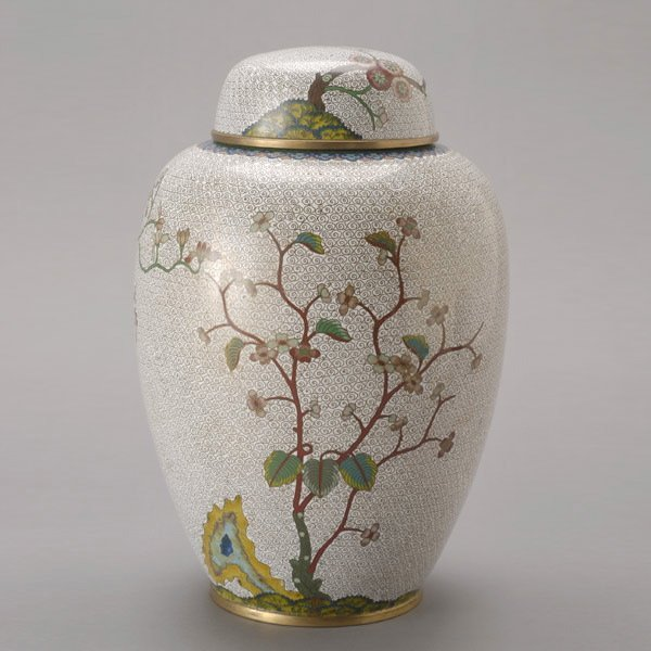 8143: A Cloisonné-Enameled Jar and Cover, 19th C