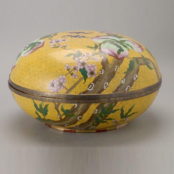 8144: A Large Cloisonné-Enameled Circular Box, Late Qin