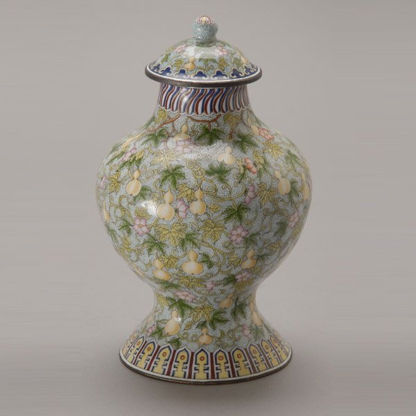 8146: A Canton Enamel-Painted Covered Jar, Qianlong