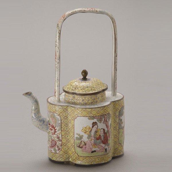 8148: A Canton Enamel-Painted Wine Pot, Qianlong