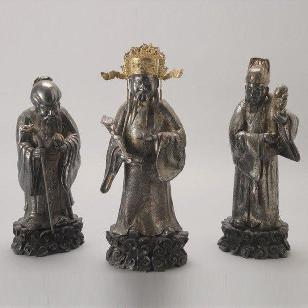 8153: A Set of Three Silver Star Gods
