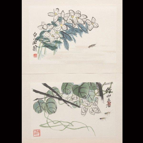 8385: Ten Woodblock Prints of Paintings by Qi Baishi