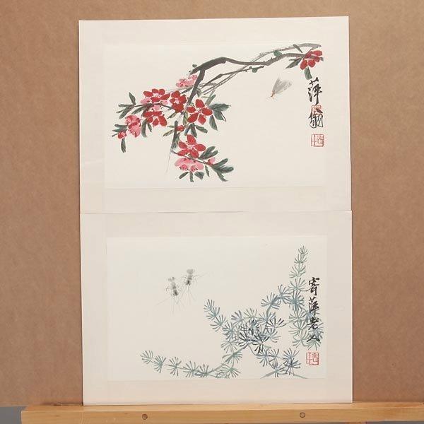 8385: Ten Woodblock Prints of Paintings by Qi Baishi - 3