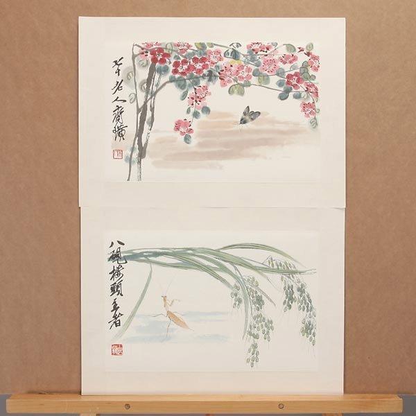 8385: Ten Woodblock Prints of Paintings by Qi Baishi - 4