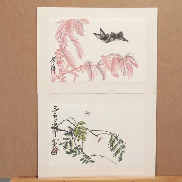8385: Ten Woodblock Prints of Paintings by Qi Baishi - 5