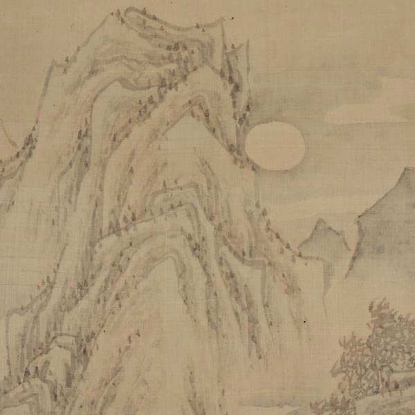 8440: Attributed to Ji WoonYoung (1852-1935): Landscape - 3