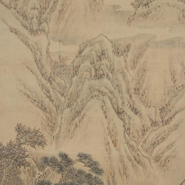 8440: Attributed to Ji WoonYoung (1852-1935): Landscape - 4